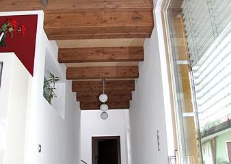 Sichtdachstuhl-Innenausbau